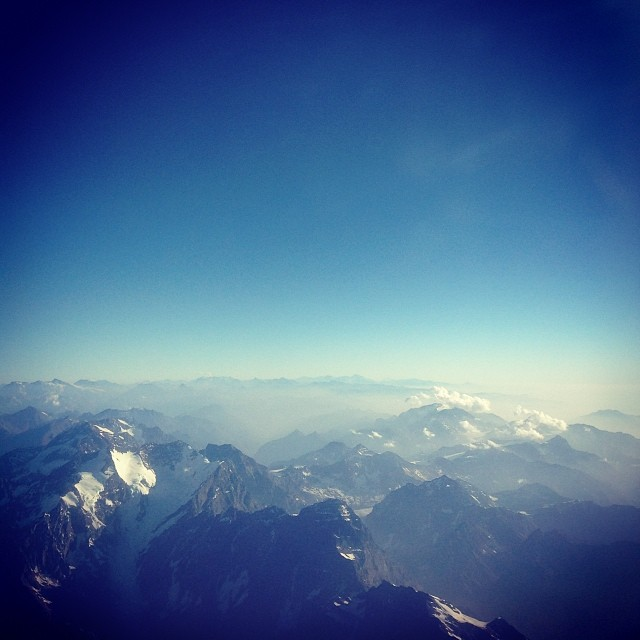 I flew over the Andes